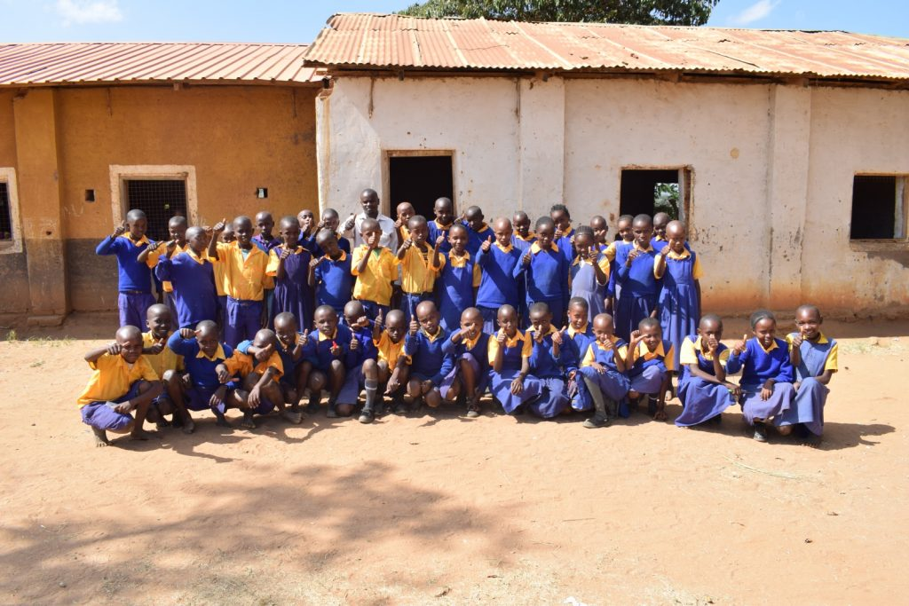 The Water Project : kenya18238-students-pose-in-school-grounds