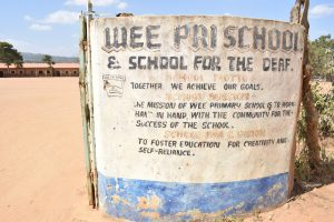 The Water Project:  Wee Primary School Sign