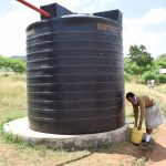 The Water Project: Kithoni Secondary School -  Existing Rainwater Tank