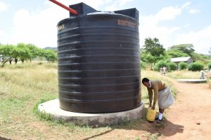 The Water Project:  Existing Rainwater Tank