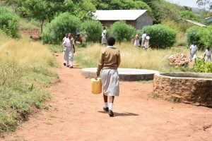 The Water Project:  Girl Carries Jerrycan Of Water