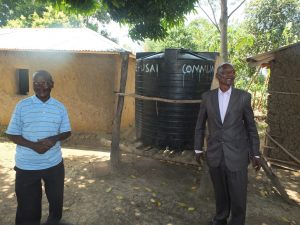 The Water Project:  Vilongo Community Rain Water Tank