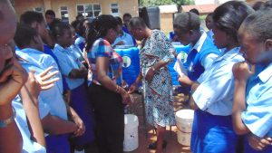 The Water Project:  Handwashing Station Demonstration