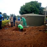 The Water Project: St. Mary's Girl's High School -  Pouring Cement For Tank
