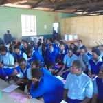 The Water Project: St. Mary's Girl's High School -  Students Listen During Training