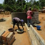 The Water Project: Kigbal Community -  Constructing The Well