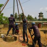 The Water Project: Tholmosor Community, Alpha Dabola Road -  Drilling
