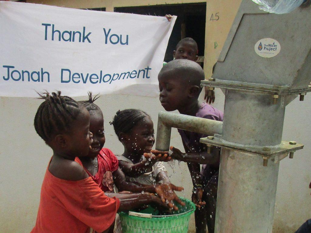 The Water Project : sierraleone18259-thank-you-jonah-development
