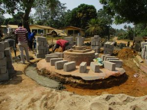 The Water Project:  Well Pad Construction And Bricking