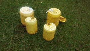 The Water Project:  Water Containers Used To Fetch And Store Water
