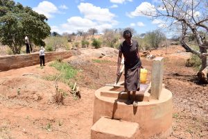 The Water Project:  First Well Neighboring Ikulya