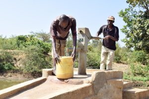 The Water Project:  First Well Installed In The Area