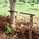 The Water Project: Mbuuni Community B -  Handwashing Station By Latrine