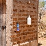 The Water Project: Katuluni Community B -  Latrine And Handwashing Bottles