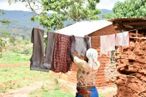 The Water Project:  Using A Clothesline