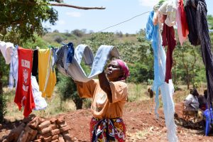 The Water Project:  Esther Using A Clothesline