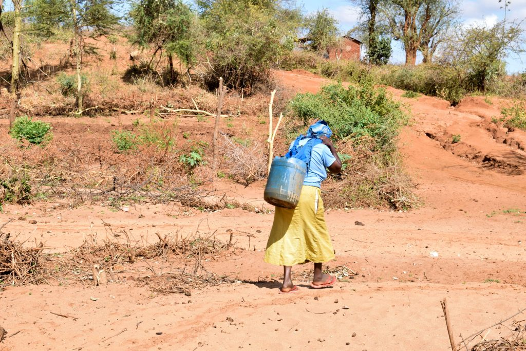 The Water Project : 2-kenya18181-carrying-water