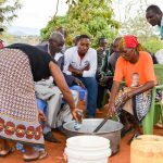 The Water Project: Kathuni Community A -  Making Soap During Training