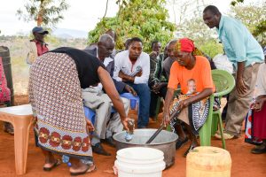 The Water Project:  Making Soap During Training