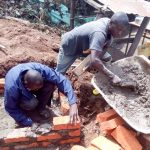 The Water Project: Erusui Girls Primary School -  Catchment Area Construction