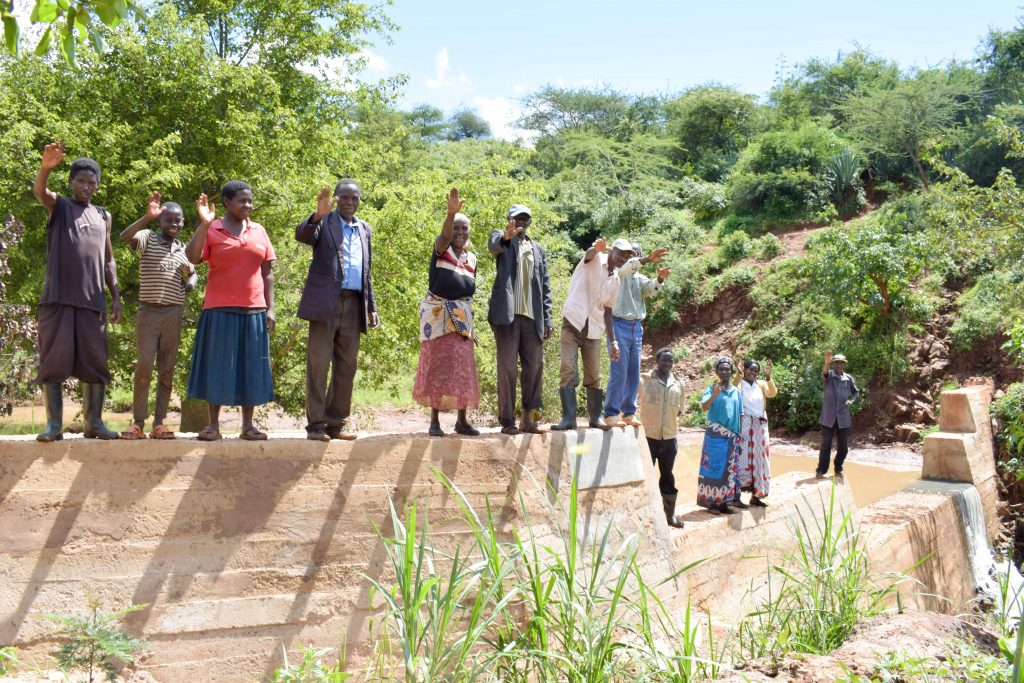 The Water Project : 25-kenya18175-finished-sand-dam