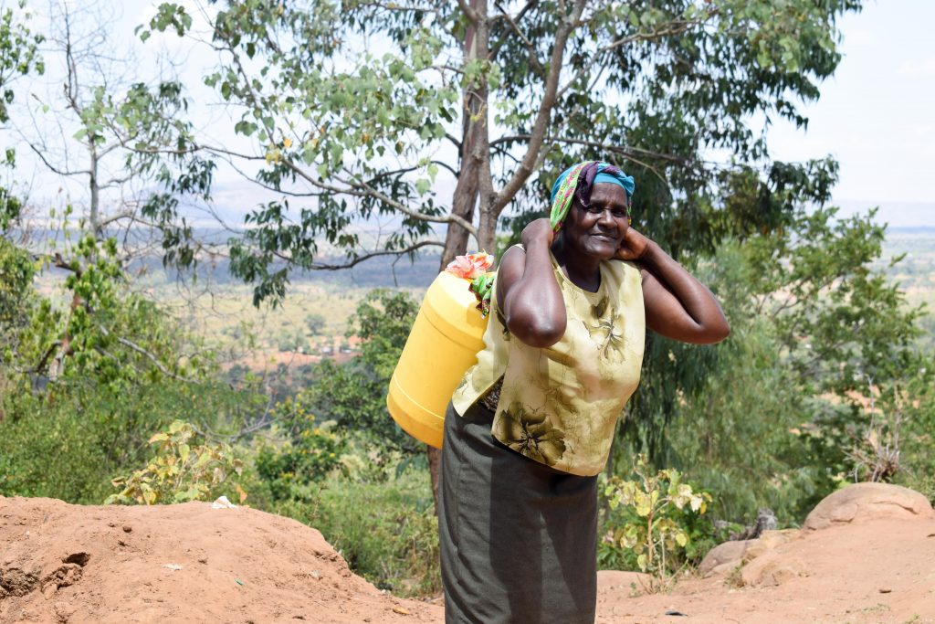 The Water Project : 5-kenya18190-carrying-heavy-water