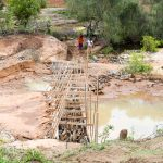 The Water Project: Katung'uli Community B -  Sand Dam Construction