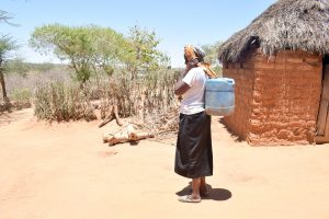 The Water Project:  Mrs Mutula With Her Water Container
