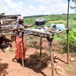 The Water Project: Mbuuni Community B -  Using A Dish Rack