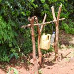 The Water Project: Mbuuni Community D -  Handwashing Station Next To Latrine