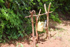 The Water Project:  Handwashing Station Next To Latrine