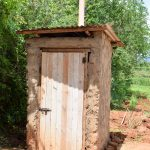 The Water Project: Mbuuni Community E -  Latrine