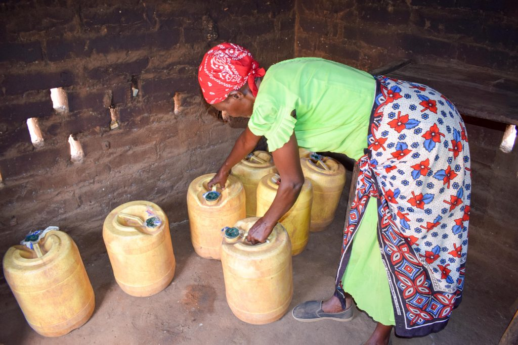 The Water Project : 9-kenya18179-water-storage-containers