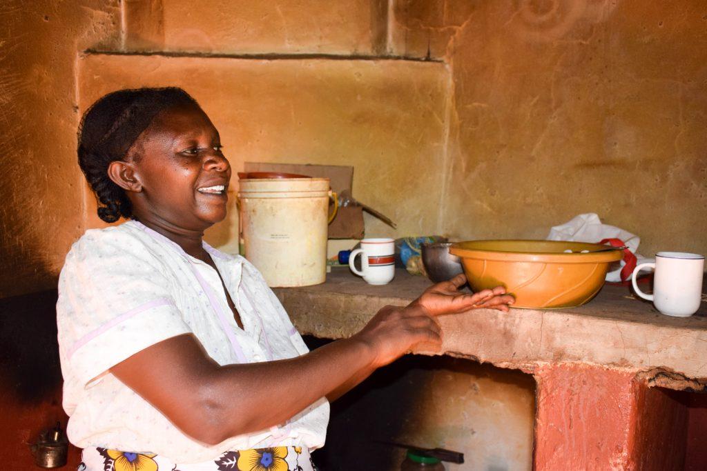 The Water Project : 9-kenya18207-mrs-mumbua-in-kitchen