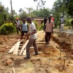The Water Project: Imuliru Primary School -  Preparing Site For New Latrines