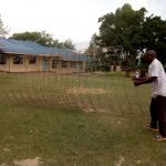 The Water Project: Imuliru Primary School -  Preparing Wire Mesh For Tank Walls