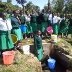 The Water Project: ACK Milimani Girls' Secondary School -  Posing At Spring