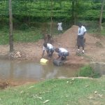 The Water Project: St. John Cheptech Secondary School -  Students Fetch Water From Open Source