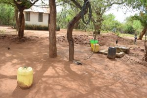 The Water Project:  Water Storage Containers In Compound