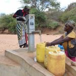 The Water Project: Katalwa Community -  First Completed Well