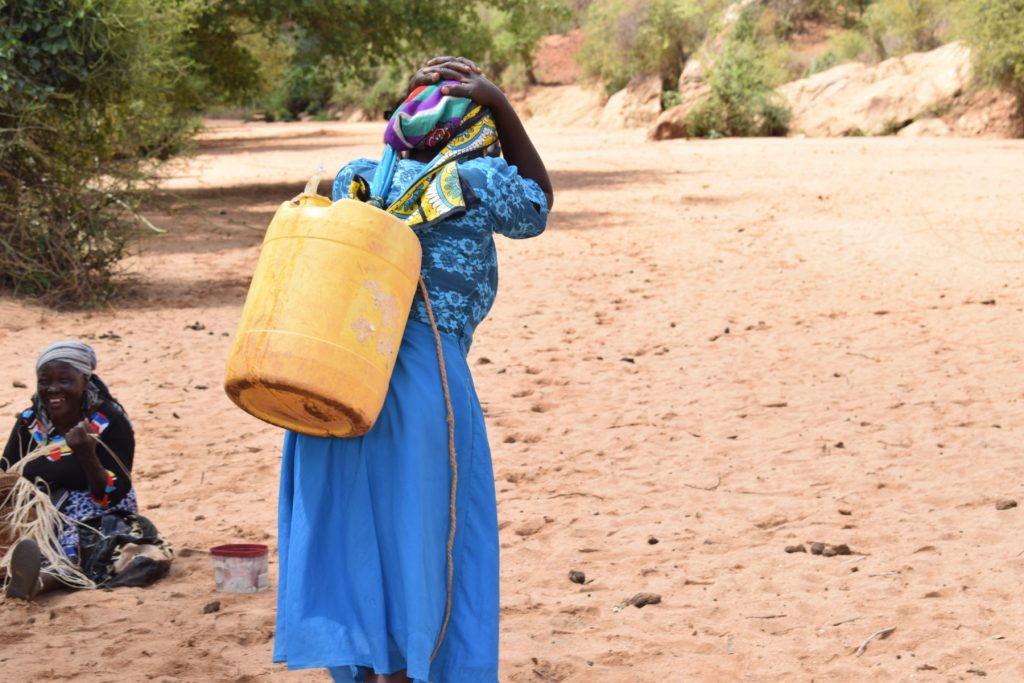 The Water Project : kenya18191-hauling-water-home