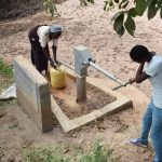 The Water Project: Ngaa Community B -  Using First Well