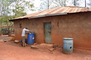 The Water Project:  Compound With Water Storage Containers