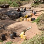 The Water Project: Utini Community -  Water Containers At Source