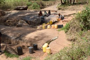The Water Project:  Water Containers At Source