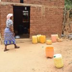 The Water Project: Kithumba Community B -  Water Storage Containers In Yard