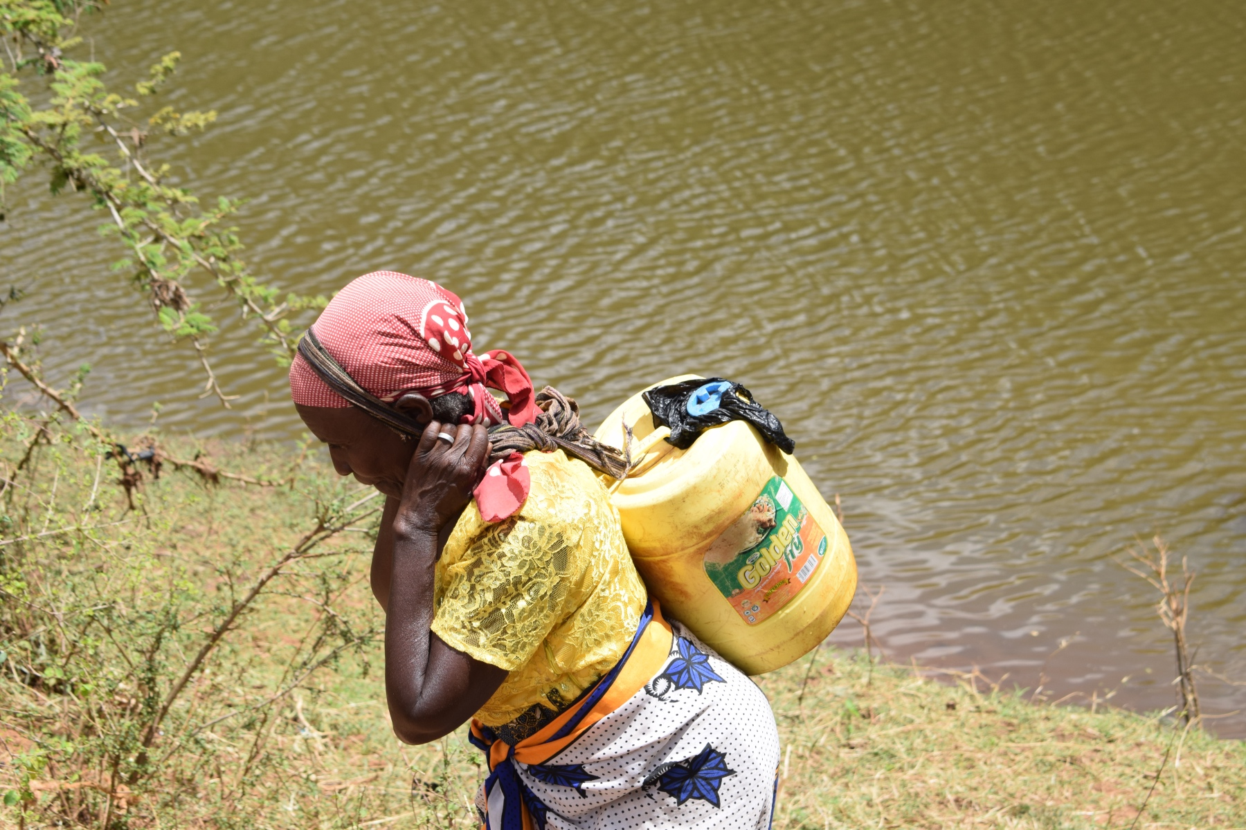 The Water Project : kenya18216-carrying-water