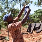 The Water Project: Ngitini Community A -  Hanging Clothes To Dry