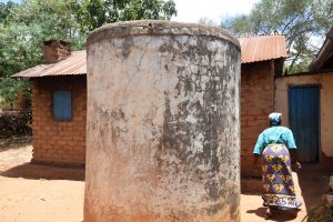 The Water Project:  Old Rain Water Storage Tank