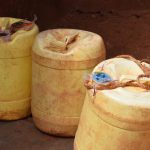The Water Project: Utini Community A -  Water Storage Contianers